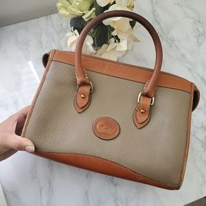 Dooney&Bourke Vintage Gray/Brown Handbag
